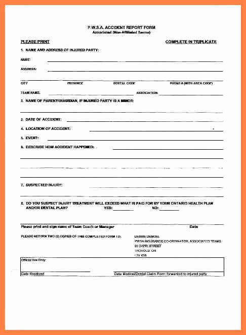 Accident Reporting form Template Beautiful Tario Motor Vehicle Accident Report Impremedia
