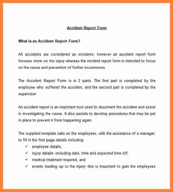Accident Reporting form Template Fresh 9 Incident and Accident Report form Template