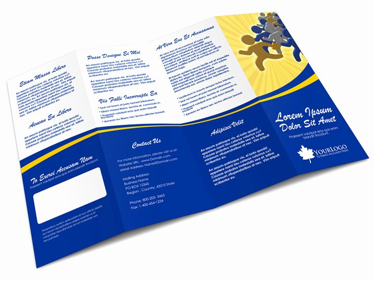Accordion Fold Brochure Template Beautiful 4 Panel Accordion Brochure Mock Up