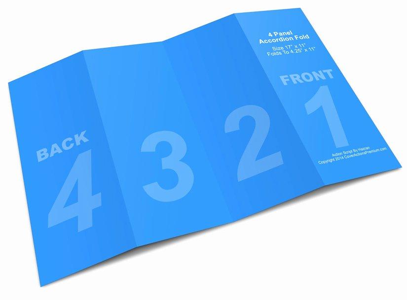 Accordion Fold Brochure Template Fresh 4 Panel Accordion Brochure Mock Up