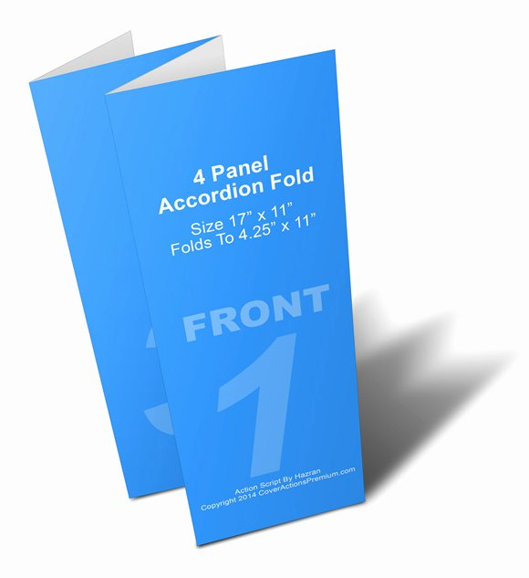 Accordion Fold Brochure Template Fresh 4 Panel Accordion Brochure Mock Up