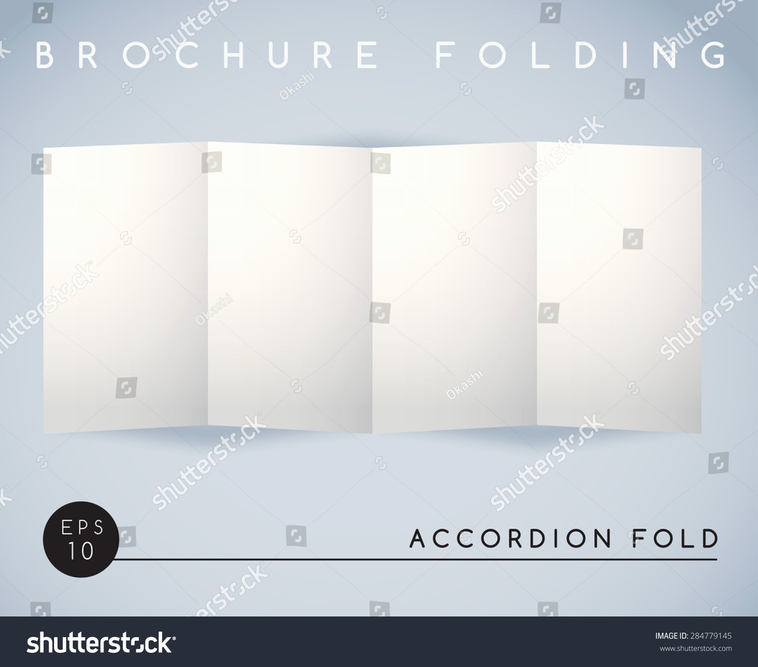 Accordion Fold Brochure Template Inspirational Brochure Folding Accordion Fold 4 Panel Vector