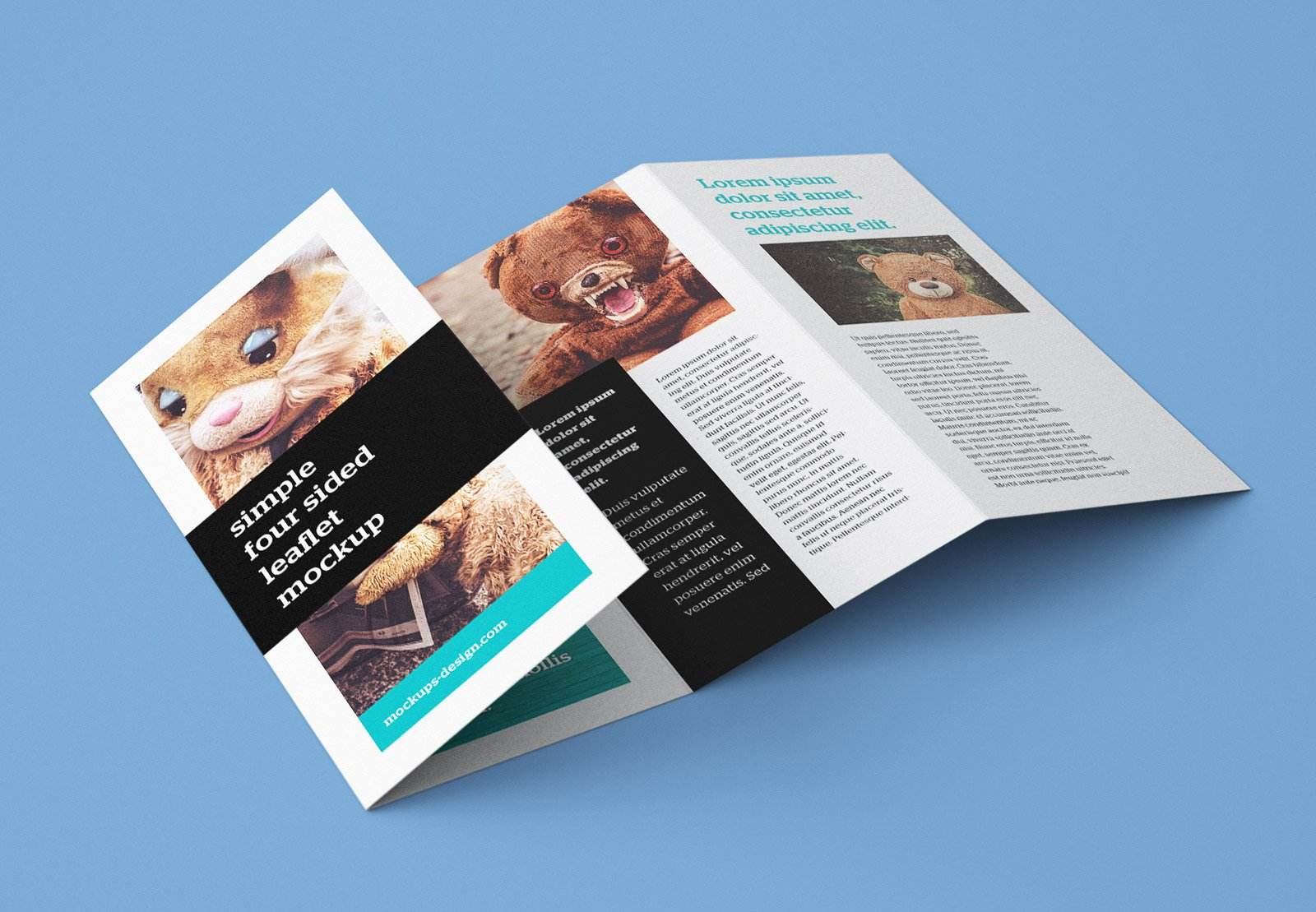 Accordion Fold Brochure Template Inspirational Free Accordion 4 Fold Brochure Leaflet Mockup Psd