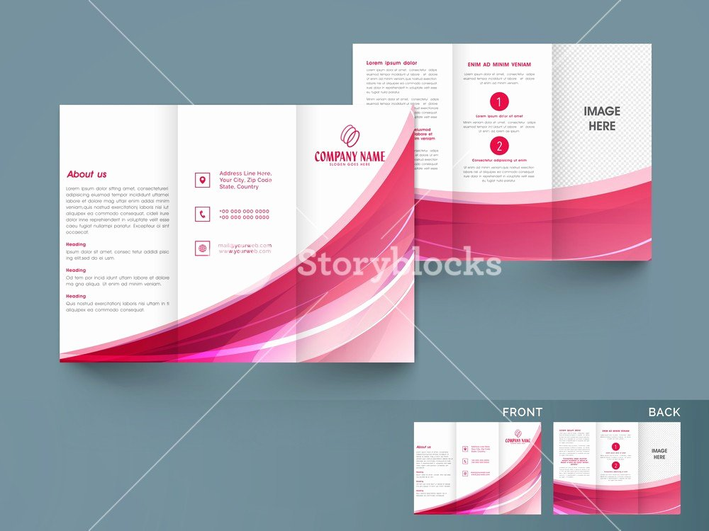 Accordion Fold Brochure Template Lovely Accordion Fold Brochure Simple Tri Fold Brochure Template