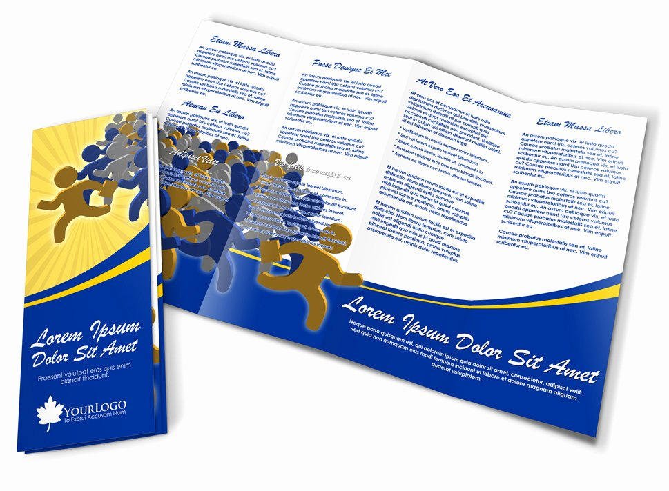 Accordion Fold Brochure Template Unique 4 Panel Accordion Brochure Mock Up