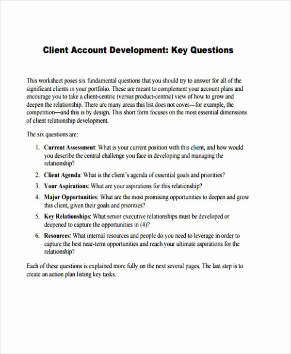 Account Management Plan Template Best Of 42 Management Plan Templates Pdf Word