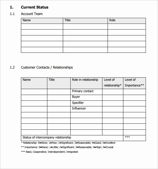 Account Management Plan Template Best Of Key Account Plan Template Gallery