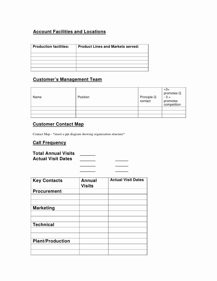 Account Management Plan Template Lovely Key Account Management Plan
