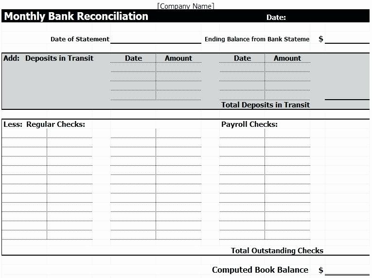 Account Reconciliation Template Excel Fresh Account Reconciliation Template Excel General Ledger