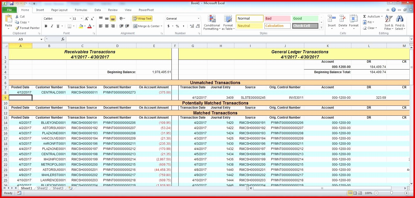 accounts payable reconciliation spreadsheet