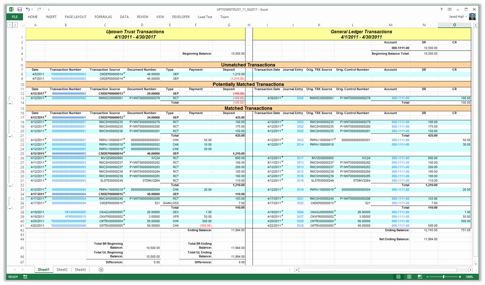 Account Reconciliation Template Excel Luxury Mdgp 2013 Feature Of the Day Reconcile Bank