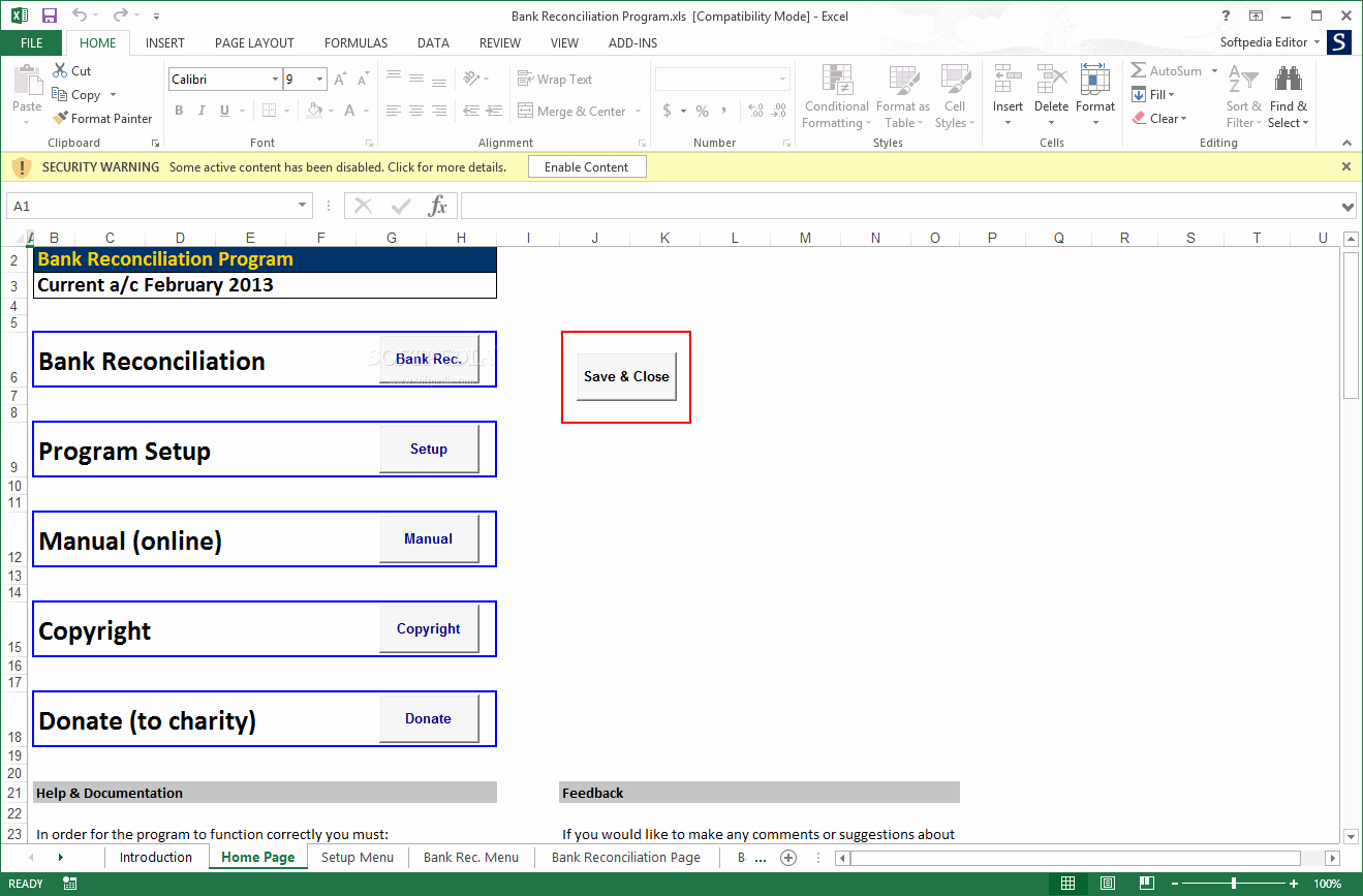 Account Reconciliation Template Excel New Download Bank Reconciliation Program 2 02