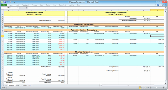 Account Reconciliation Template Excel Unique Mdgp 2013 Feature Of the Day Reconcile Iv to Gl – Azurecurve