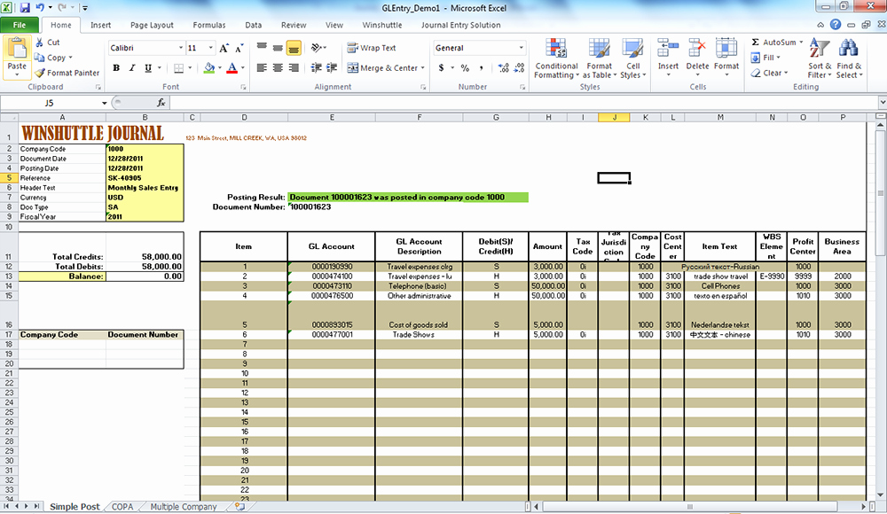 Accounting Journal Entries Template Awesome Improving Sap Journal Entry Processes