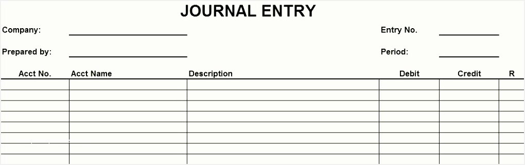 Accounting Journal Entries Template Unique Accounting forms Templates Journal Entries