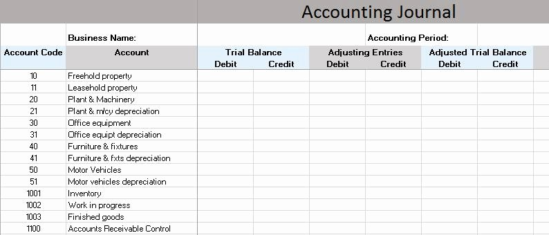 Accounting Journal Entry Template Awesome Free Accounting Templates In Excel