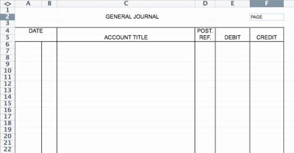 Accounting Journal Entry Template Inspirational Accounting Journal Template Spreadsheet Templates for