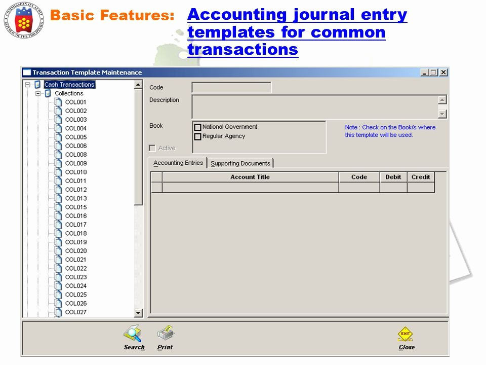Accounting Journal Entry Template Unique Implementing the Puterized Government Accounting System
