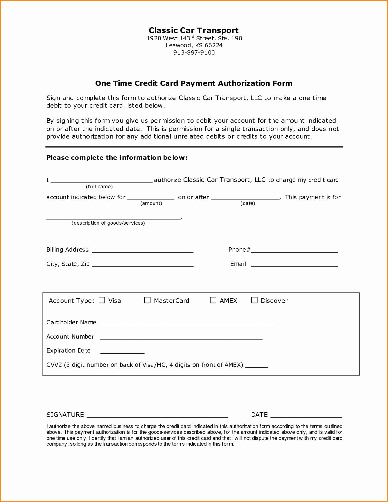 Ach Deposit Authorization form Template Unique 16 Of Billing Authorization Template