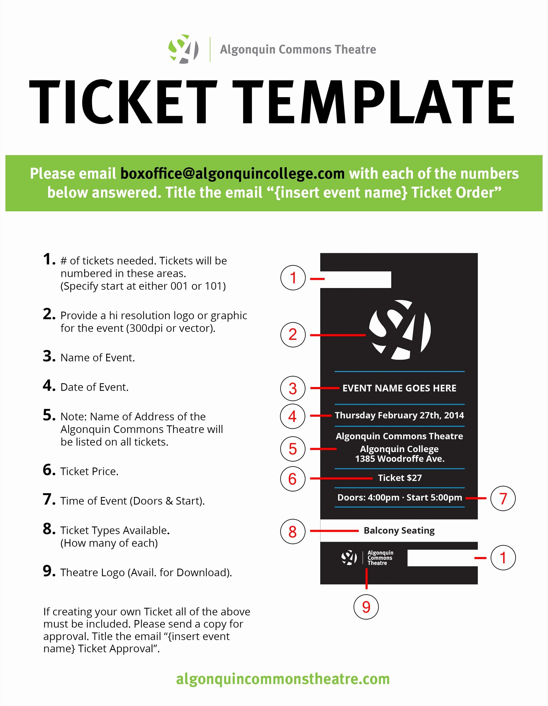 Admission Ticket Template Free Awesome theatre Ticket Template Portablegasgrillweber