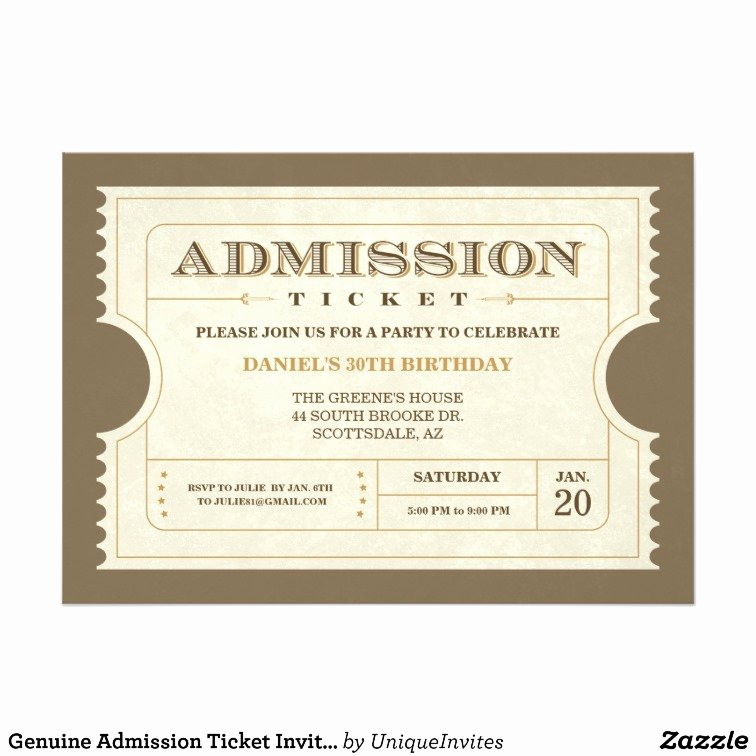 Admission Ticket Template Free Fresh Admission Ticket Template
