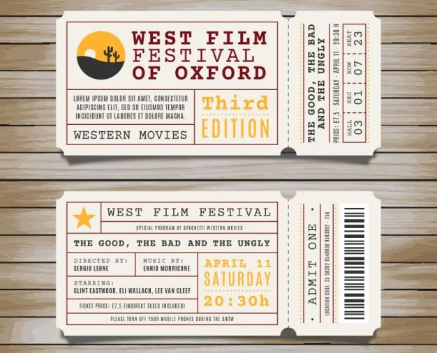 Admission Ticket Template Free Fresh Best 20 Ticket Template Ideas On Pinterest