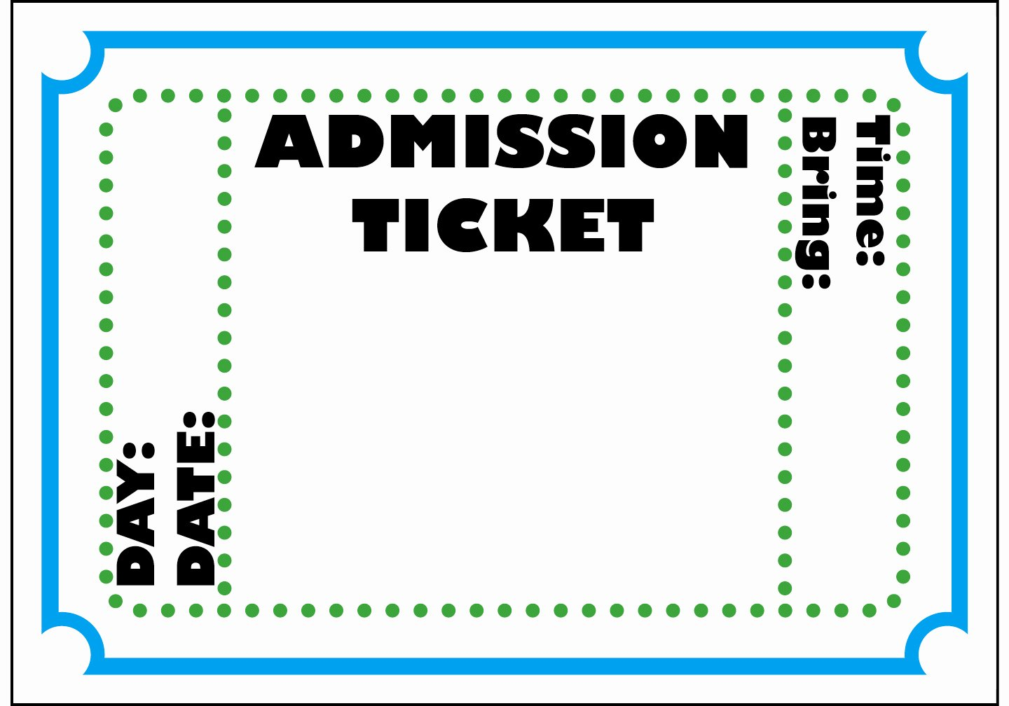 Admission Ticket Template Free Luxury Free Printable Admission Ticket Template Clipart Best