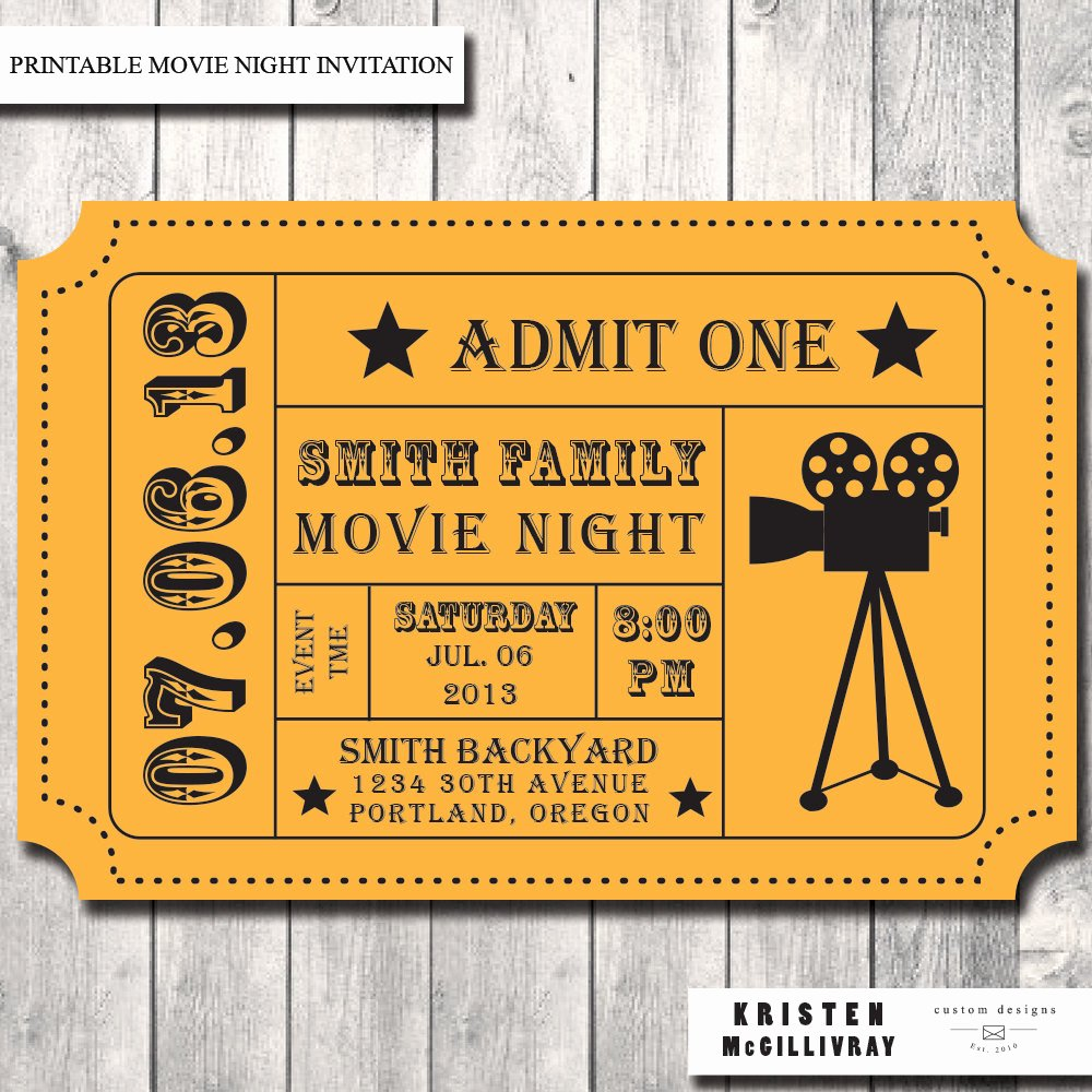 Admission Ticket Template Free New Movie Ticket Template