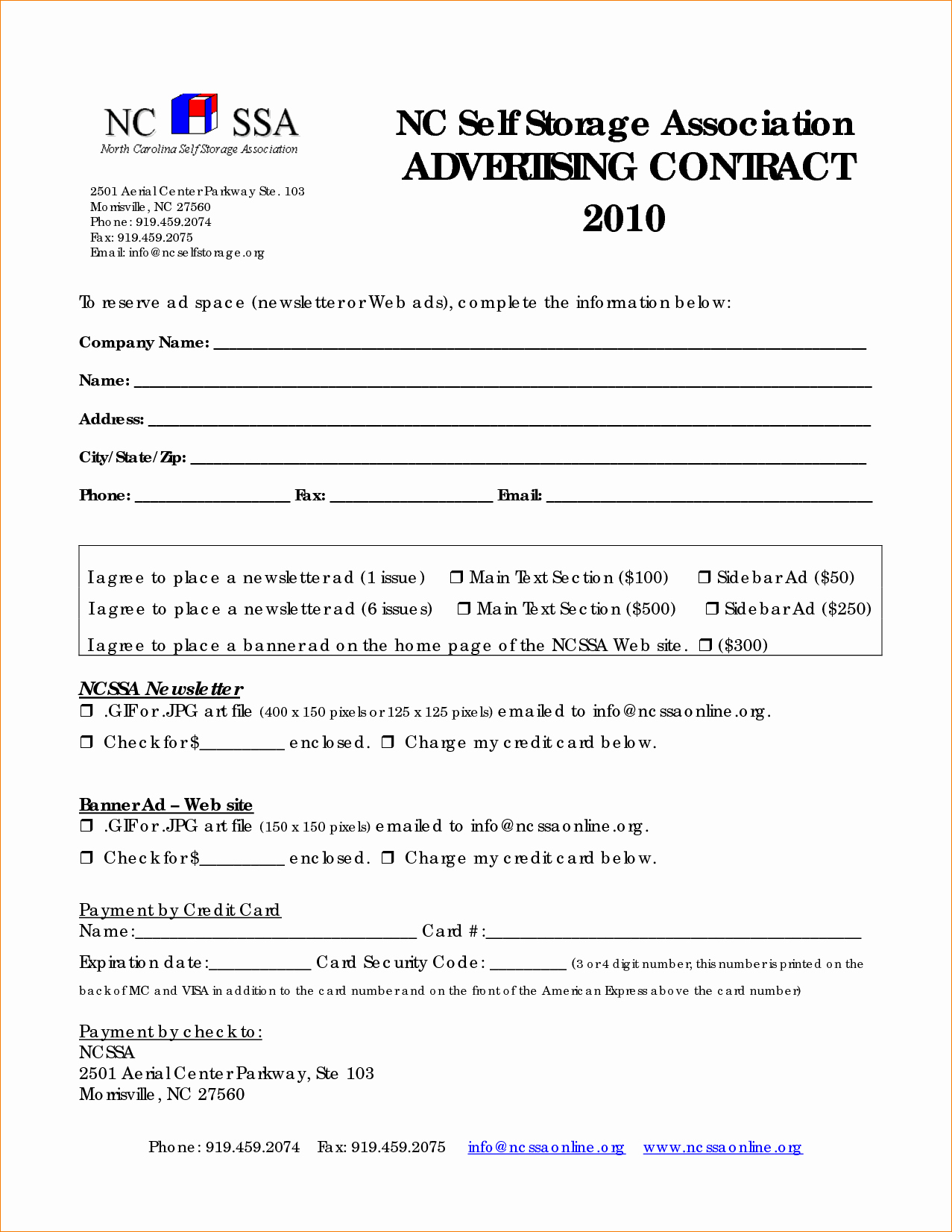Advertising Contract Template Free Unique 6 Advertising Contract Template