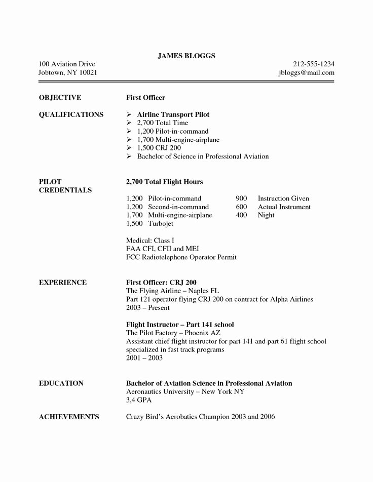 Airline Pilot Resume Template Awesome 12 Best Life Hacks Images On Pinterest
