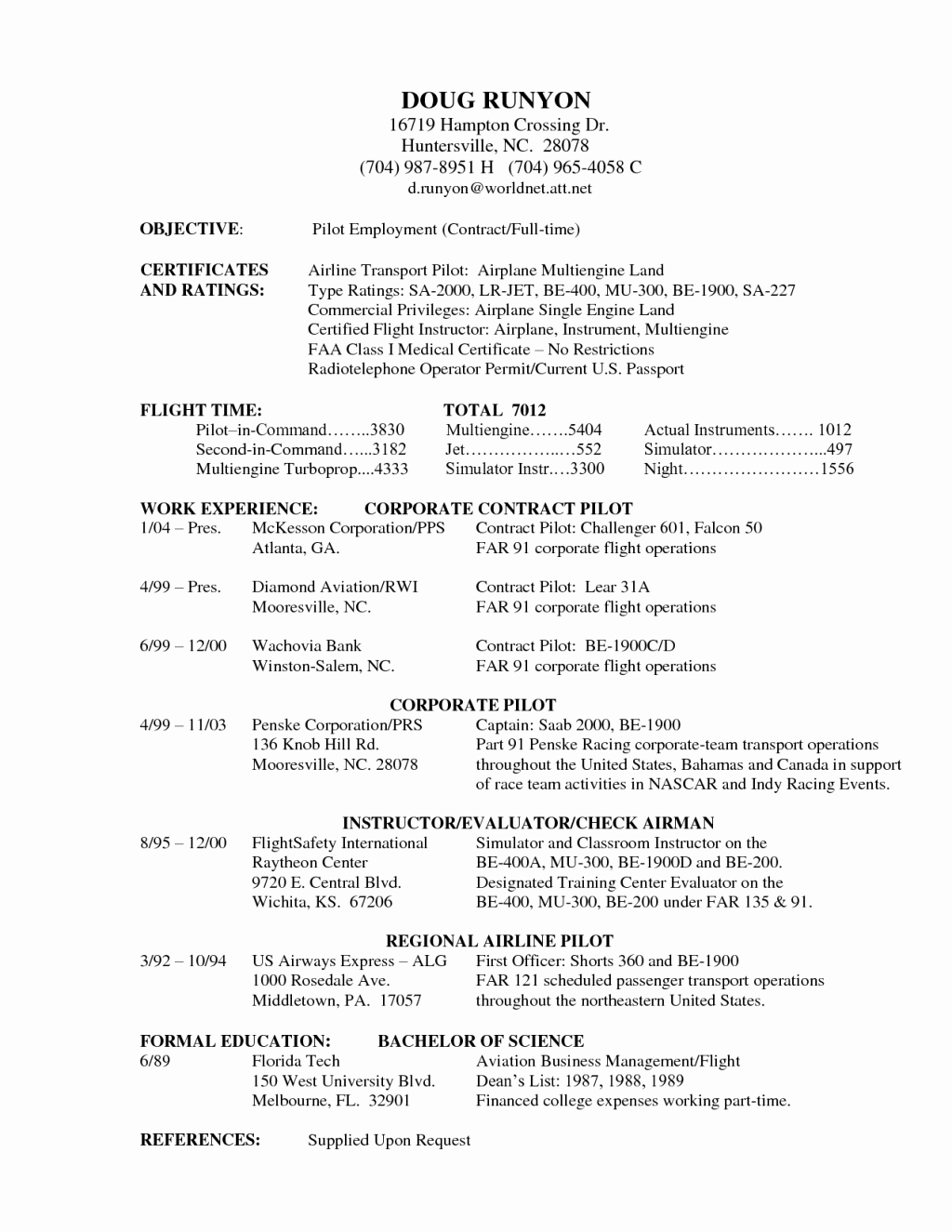 Airline Pilot Resume Template Best Of Pilot Resume Sample Tag Splendi Professional Pilot Resume