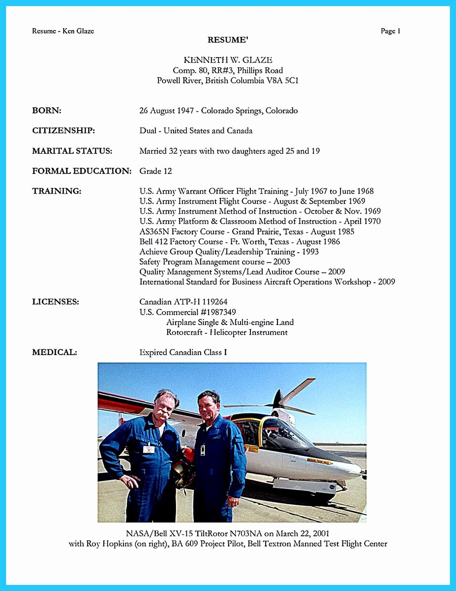 Airline Pilot Resume Template Elegant Successful Low Time Airline Pilot Resume