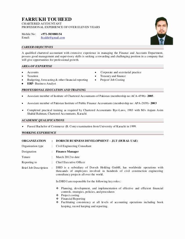 Airline Pilot Resume Template Fresh Cv Farrukh touheed Aca