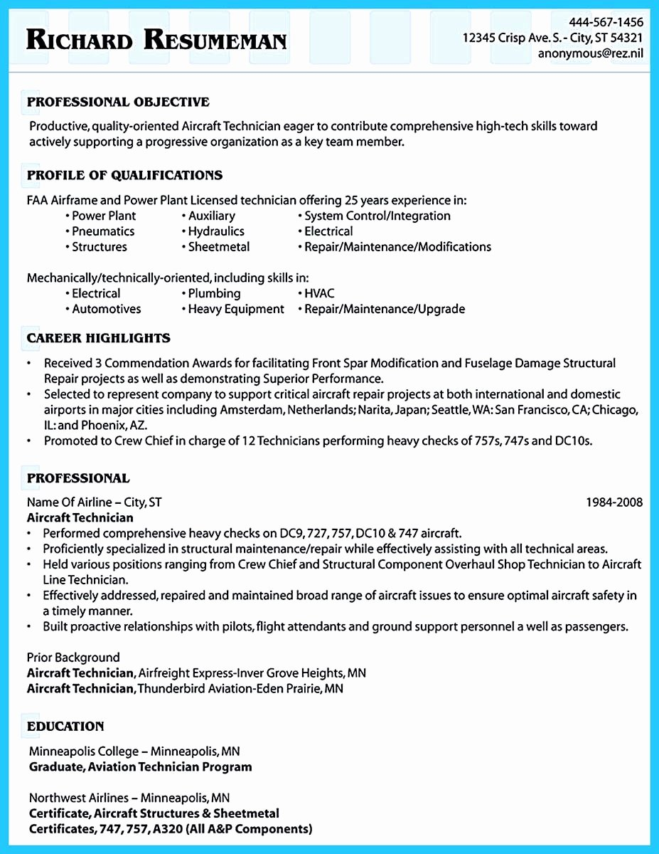 Airline Pilot Resume Template Inspirational Successful Low Time Airline Pilot Resume