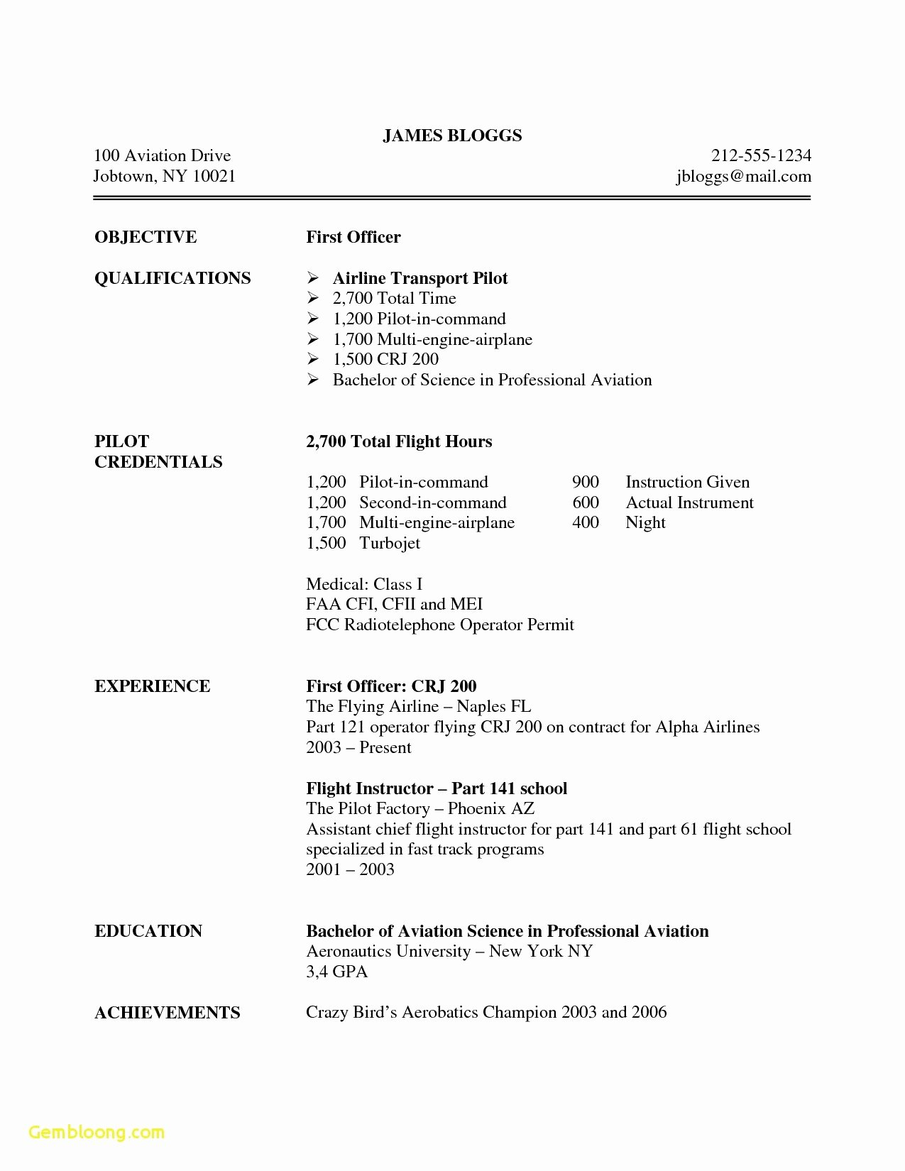 Airline Pilot Resume Template Lovely Airline Pilot Resume Examples
