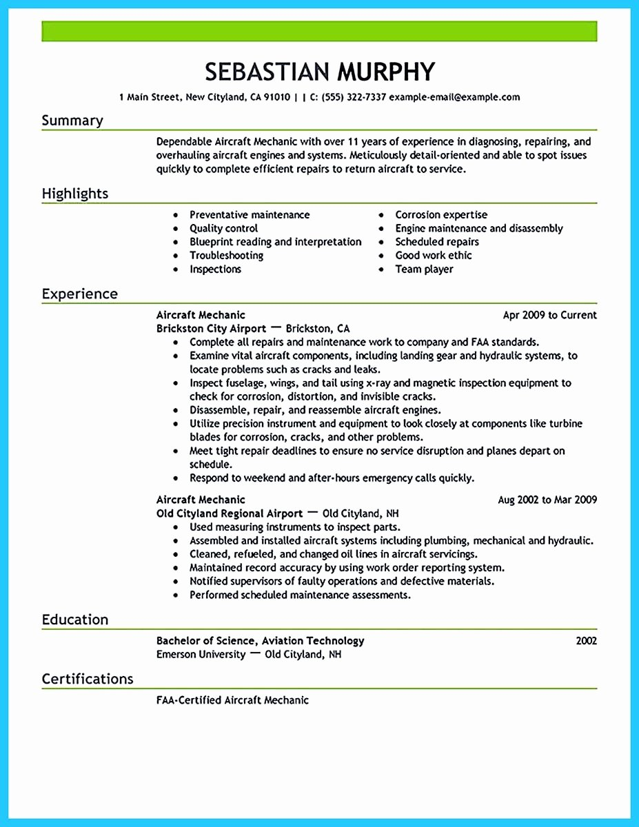 Airline Pilot Resume Template Lovely Learning to Write A Great Aviation Resume