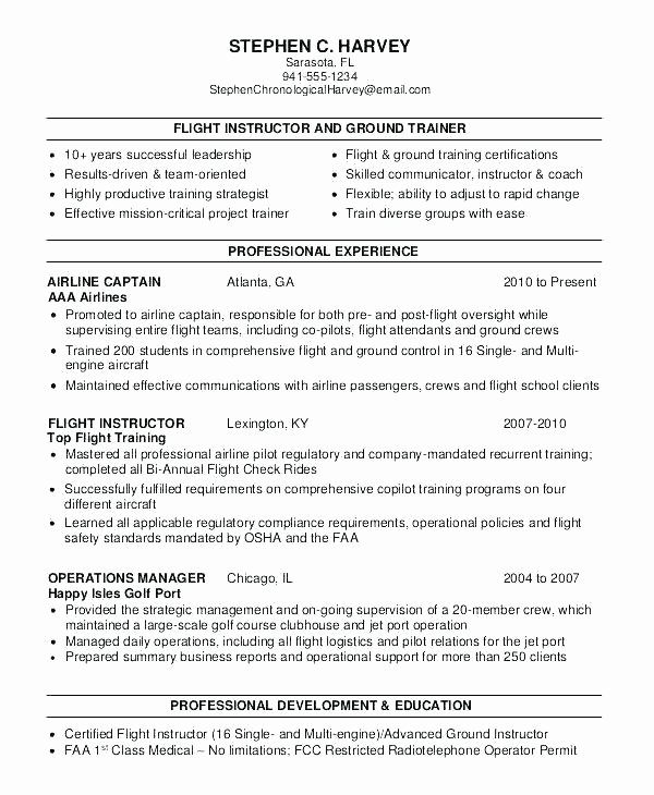 Airline Pilot Resume Template Lovely Professional Pilot Resume – Gyomorgyurufo