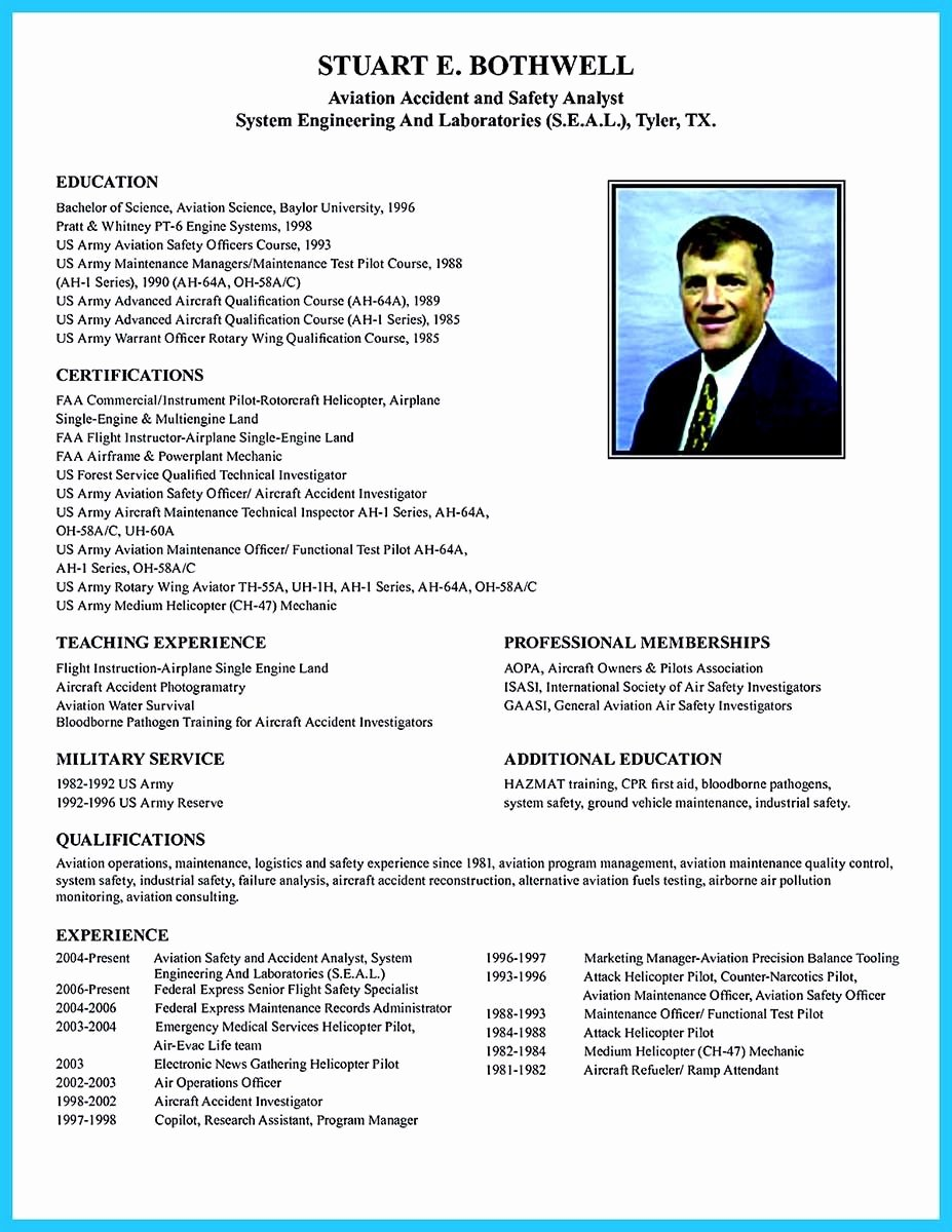 Airline Pilot Resume Template Luxury Cool Learning to Write A Great Aviation Resume