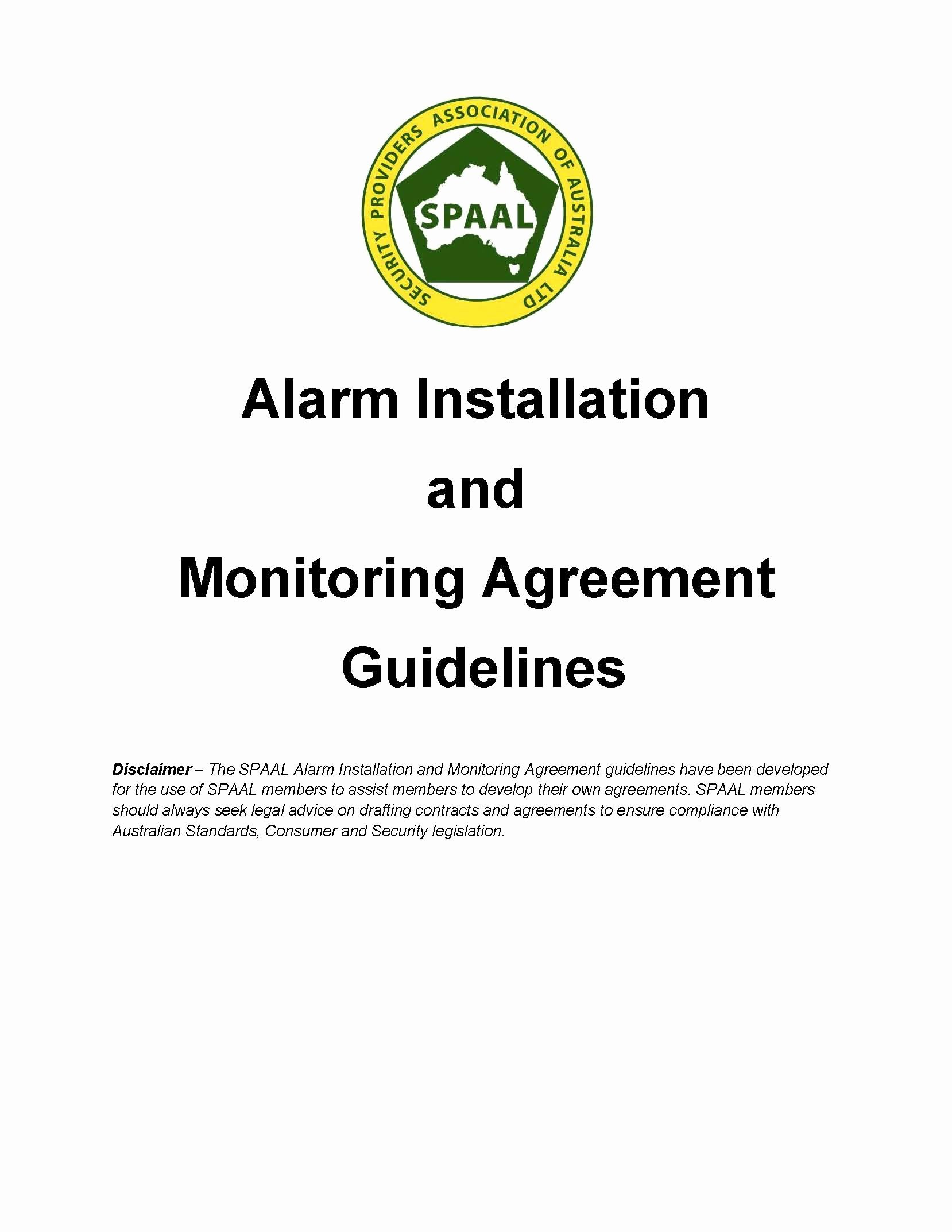 Alarm Monitoring Contract Template Elegant Alarm Installation & Monitoring Agreement Guidelines Spaal