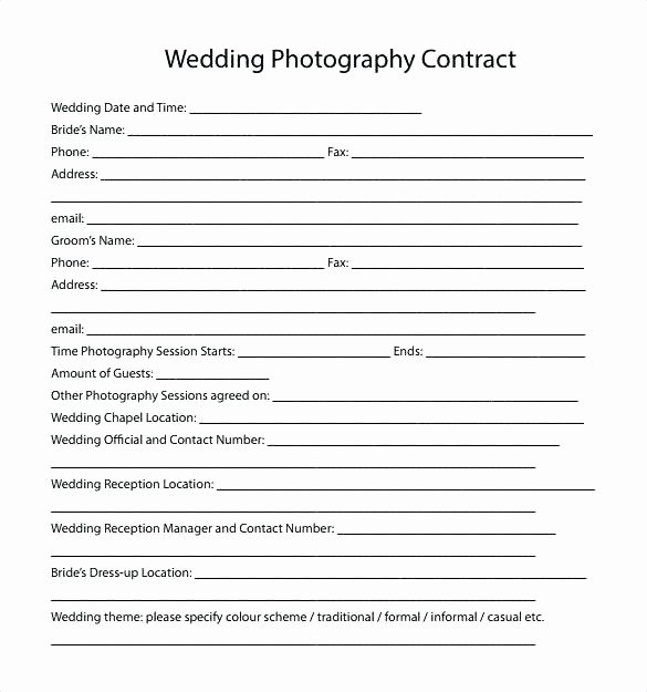 Alarm Monitoring Contract Template Luxury Wedding Vendor Contract Template form Agreement It
