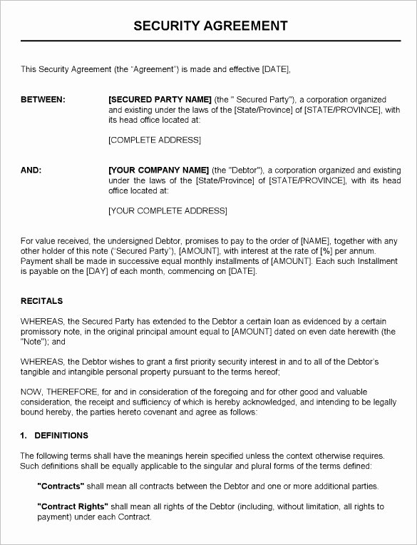 Alarm Monitoring Contract Template Unique 12 Security Contract Templates Doc Pdf