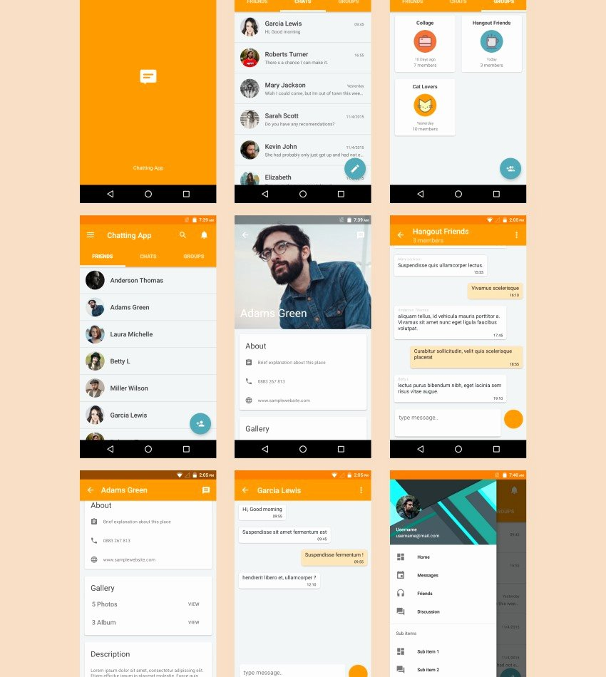 Android App Design Template Beautiful 7 android Templates to Inspire Your Next Project