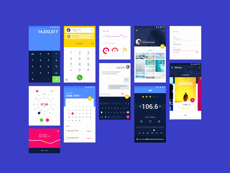 Android App Design Template Beautiful android Material Design App Templates Free Resources for