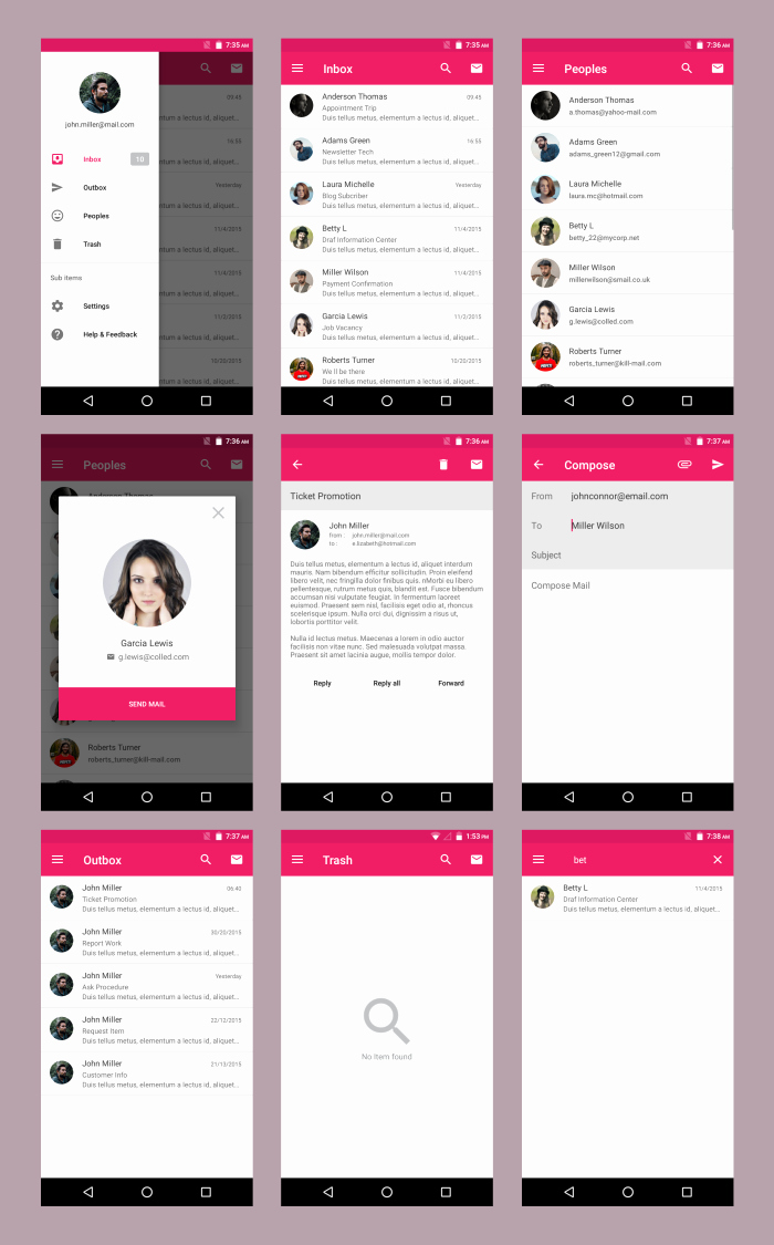 Android App Design Template Fresh android Material Ui Template 2 1 by Dream Space
