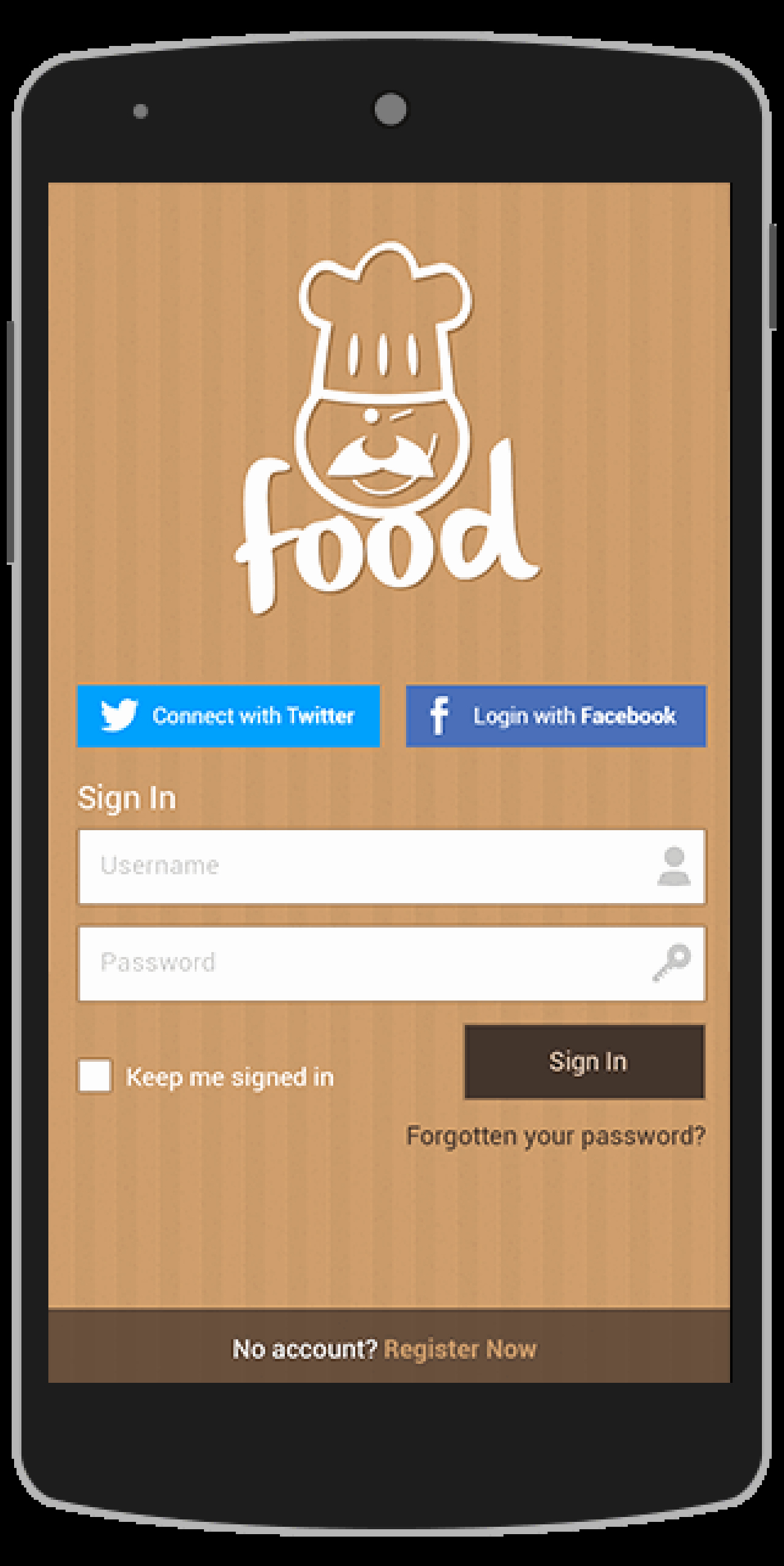 Android App Design Template Luxury Buy Food android App Template Food&drink