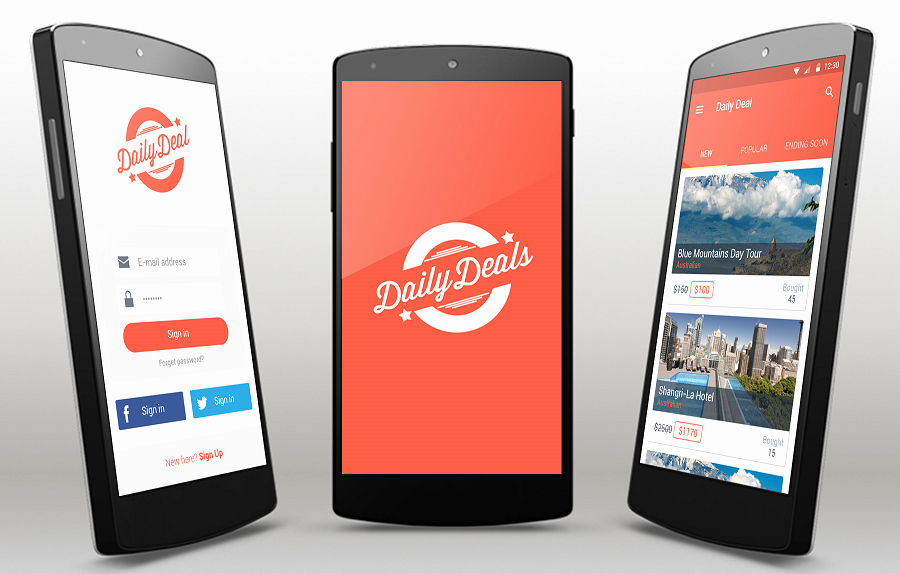 Android App Design Template New Deals android App Template