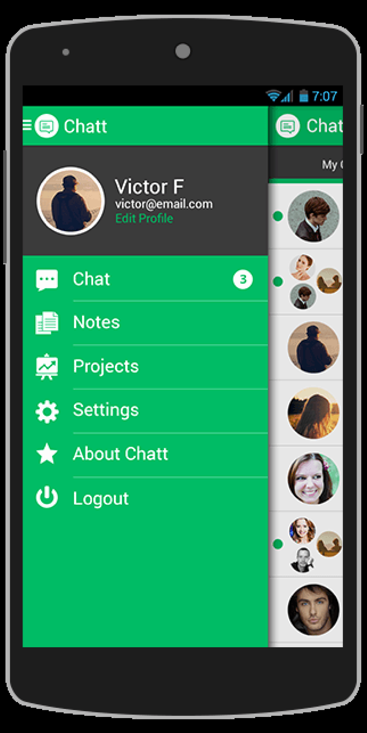 Android App Design Template Unique Buy Chatt android App Template Chat