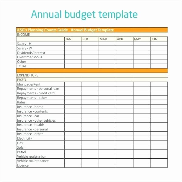 small business annual bud template