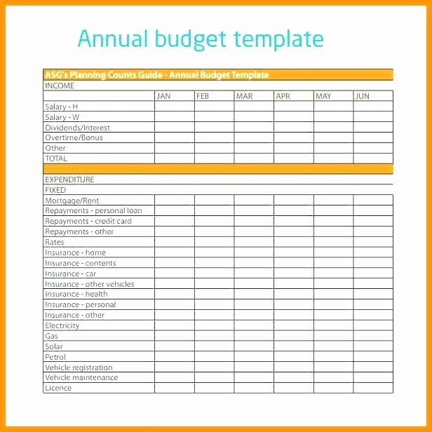 Annual Business Budget Template Excel Elegant Pany Annual Bud Template