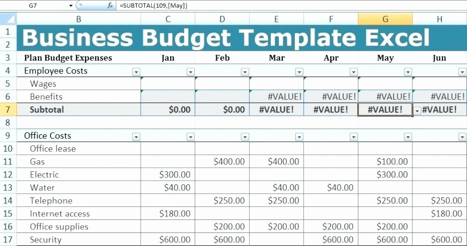 Annual Business Budget Template Excel Luxury Business Bud Excel Sheet Free Download Template